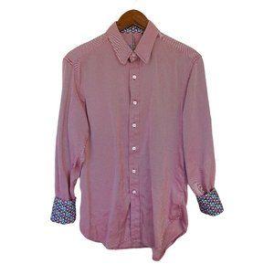 Robert Graham Casual Turn Cuff Shirt Mens Size M